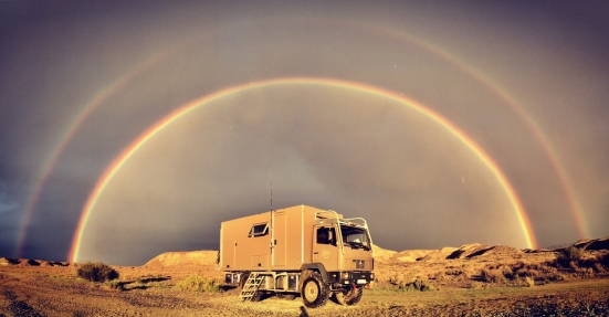 Großes Glück: ein doppelter Regenbogen