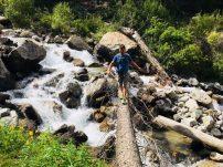 Am Barskoon Wasserfall im Barskoon Valley