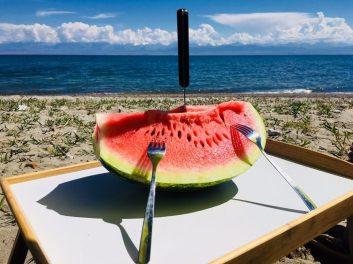 Wassermelone als Dankeschön für die Rettung