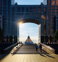 Blick auf das Khan Shatyr, Astana