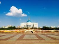 Ak-Orda-Präsidentenpalast, der offizielle Sitz des kasachischen Präsidenten
