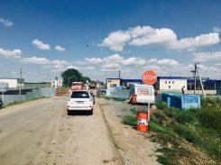Grenzübergang Kasachstan-Russland: der hier ist nur für Kasachen und Russen