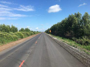 Willkommen in Russland - auf schön asphaltierten Straßen