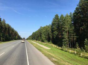 Sibirien auf dem Weg nach Nowosibirsk