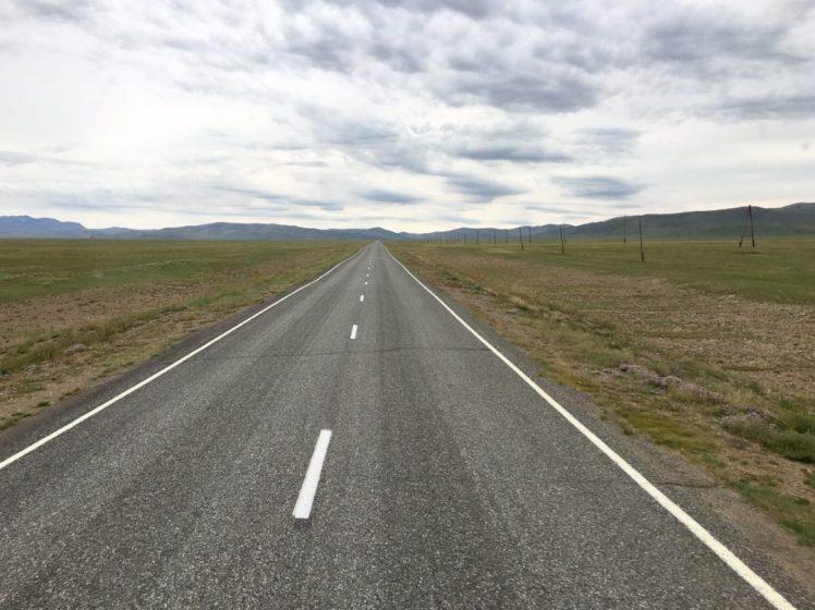 Auf dem Weg zur mongolischen Grenze