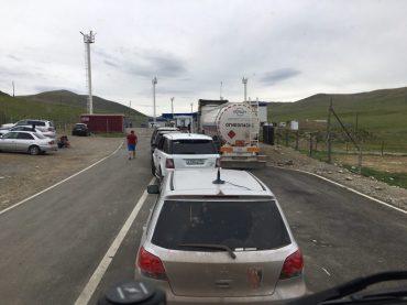 Russische Grenze bei Tashanta