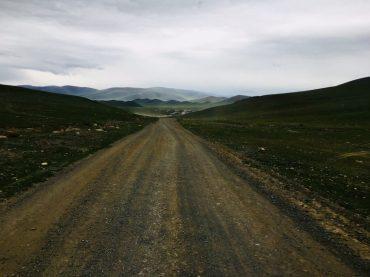 Die mongolische Grenzstraße und Grenzposten