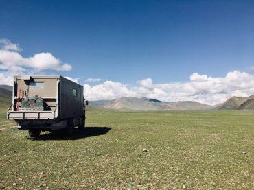 Erster Stellplatz Mongolei