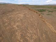 Auf dem Weg in die Gobi: hier auf Irrwegen durchs Flussbett
