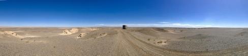 Panorama in der Wüste Gobi