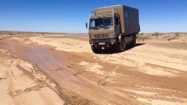 Flussbettquerung Wüste Gobi