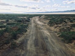 Unfahrbarer Weg zu den Khongoryn Sanddünen