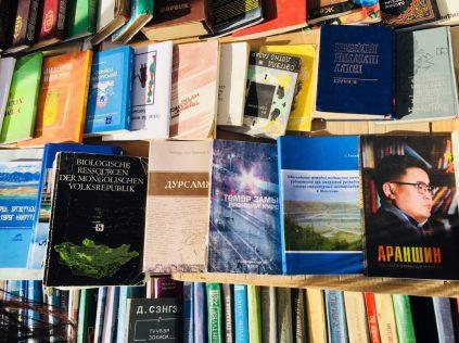 Buchmesse in Ulan Bator: man beachte das EINE Buch