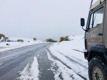 Und plötzlich war's weiß: Schnee im September in der Mongolei