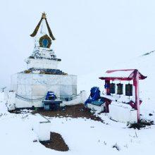 Stupa im Schnee