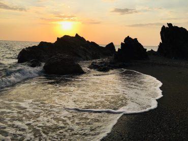 Jedes Mal wieder schön: Sonnenuntergang am Meer