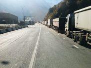 Straße zum Russischen Grenzposten