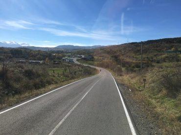 Grenzstraße zur georgisch-türkischen Grenze