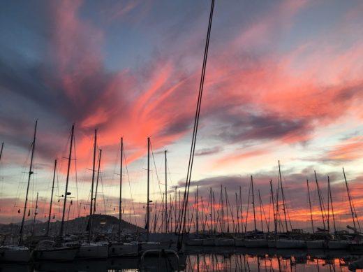 Sonnenuntergang in der Setur Marina Kusadasi