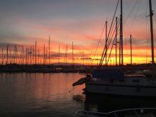 Sonnenuntergang in der Marina Kusadasi