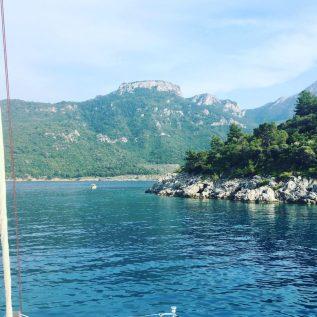 Schöne Landschaft Mersincik Koyu, Türkei