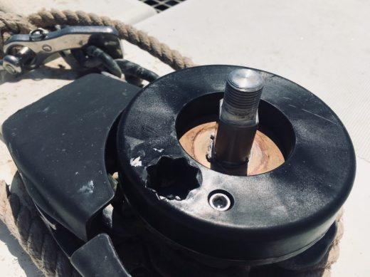 QUICK-Ankerwinsch umgebaut für manuellen Gebrauch