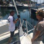 Die neue Genoa wird gesetzt, um zu checken, ob die Länge passt