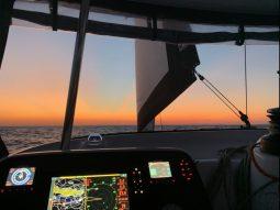 Sonnenuntergang während der Mittelmeerpassage