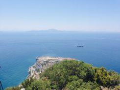 Blick nach Afrika von Gibraltar