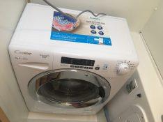 Erfolg: Waschmaschine in Gästetoilette