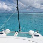 Ankerplatz Tobago Cays: Blick Richtung Horseshow Reef zum Atlantik