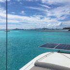 Unser Ankerplatz in den Tobago Cays direkt in erster Reihe am Horseshoe Reef: fantastischer Rundblick, jede Menge türkisfarbenes Wasser