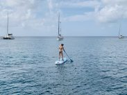 """SUP-ing"" in Bequia"