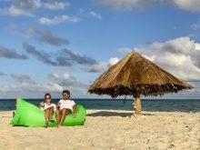 Unser Sundowner auf Mopion Island