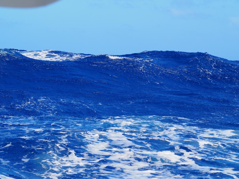 Hohe Wellen auf dem Atlantik