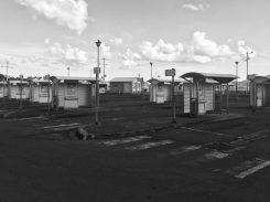 leerer Hauptbusbahnhof in Fort-de-France