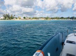 Ankunft in der Carlisle Bay, Barbados