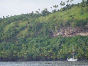 Chateaubelair, St. Vincent: es gibt nicht viele Ankerplätze, weil die Bucht sehr tief ist