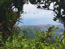 Aussicht während der Kletterei zum Piton Lacroix
