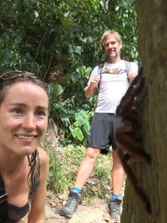 Selfie mit Martinique Baum-Vogelspinne