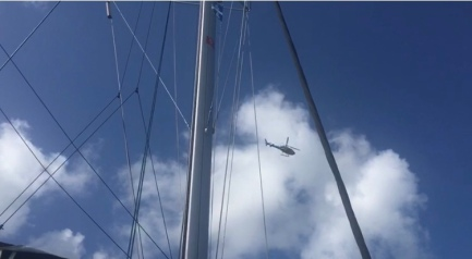 Gendarmerie fliegt mehrmals die Bucht ab