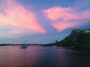 Selten: Pinker Abendhimmel