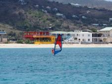 Surfen in der Grand Case Bay
